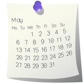 2013 May calendar — Stock Vector