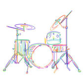 Drums kit — Stock Vector