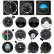 Stockvektor : Aircraft instruments collection