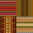 Decorative Africpatterns — Vector de stock #6280043
