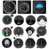 Colección de aeronaves de instrumentos — Vector de stock