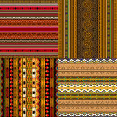 Patrones decorativos africanos — Vector de stock