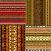 Patrones decorativos africanos — Vector de stock