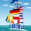 EU ship — Stock Vector
