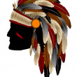 Native american — Image vectorielle