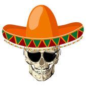 Sombrero skull — Stock Vector