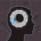 Head puzzle — Stock Vector