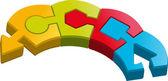 Puzzle block — Stock Vector