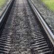 Stock Photo: Railway concrete sleepers