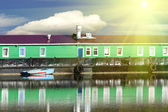 House river water floating — Stock Photo
