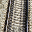 Stock Photo: Railway concrete sleepers rails