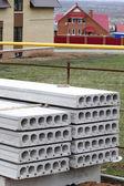 Pile concrete slab construction house — Stock Photo