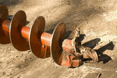 Tool industrial screw earthmoving — Stock Photo