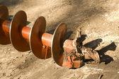 инструмент промышленных винт землеройная техника — Стоковое фото