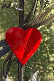 Figura forma cuore rosso — Foto Stock