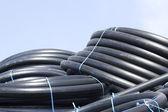 Flexible plastic pipes new — Stock Photo