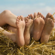 Stock Photo: Female feet fingers relaxed