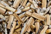 Brandhout kofferbak hout — Stockfoto