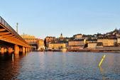 Stockholm at sunset — Stock fotografie