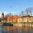 Stock Photo: Sunny evening in Turku, Finland