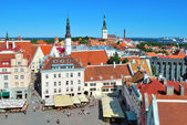 Tallinn, Town Hall Square — Stock Photo