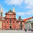 Prague. Basilica of St. George at Prague Castle — Stock Photo #5877800