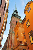 Stockholm, the German Church — Foto Stock