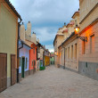 Prague. Golden Lane  at twilight — Stock Photo