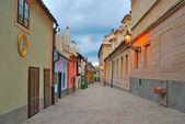Prague. Golden Lane at twilight — Stock Photo