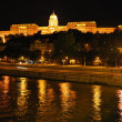 Budapest. Royal Palace at night - Stock Photo