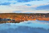 Turku environs at sunset — Stock Photo