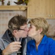 Stock Photo: Mature Couple celebrating Anniversary