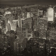 Night View of New York City - Stock Photo