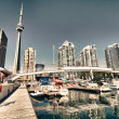 View of Toronto from the Pier — Stock Photo #6097600