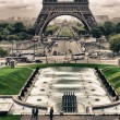 Stock Photo: Eiffel Tower from Trocadero, Paris