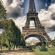 Royalty-Free Stock Photo: Eiffel Tower from Park du Champ de Mars, Paris