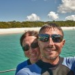 Stock Photo: Young Couple having Fun in Whitehaven Beach