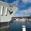 War Submarine anchored in Sydney — Stock Photo #6098909
