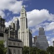 Panoramic View of New York City Buildings — Stock Photo