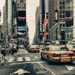 New York Streets and Taxis - Stock Photo