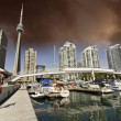 View of Toronto from a Pier, Canada — Stock Photo