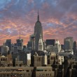 weergave van new york city van brooklyn bridge — Stockfoto