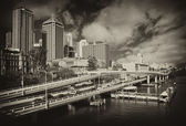 Brisbane ilçe sınırı trafik — Stok fotoğraf