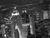 Vista notturna della città di new york — Foto Stock
