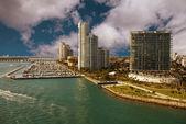 Miami Beach Coastline, Florida — Stock Photo