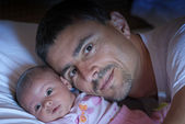 Father Sweetness for his Daughter — Stock Photo