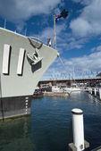 War Submarine anchored in Sydney — Stock Photo