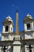 Piazza di Spagna and Trinita' dei Monti in Rome — Stock fotografie