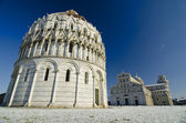 Piazza dei Miracoli in Pisa after a Snowstorm — Stock Photo
