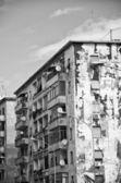 Architectural detail near Garbatella in Rome — Stock Photo